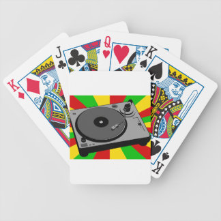 Rasta Turntable Bicycle Playing Cards