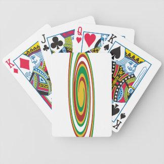 Rasta Twirl Bicycle Playing Cards
