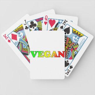 Rasta Vegan Bicycle Playing Cards