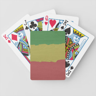 Rasta Wood Grain Bicycle Playing Cards
