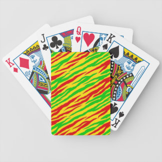 Rasta Zebra Stripes Bicycle Playing Cards