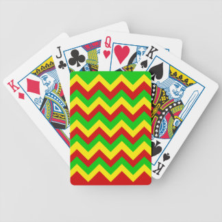 Rasta Zig Zags Bicycle Playing Cards