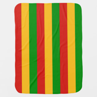 RASTAFARI FLAG COLORS + your ideas Baby Blanket