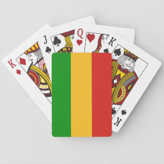 RASTAFARI FLAG COLORS + your ideas Playing Cards