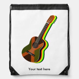 Rastafarian Reggae Guitar Drawstring Bag