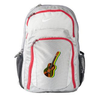 Rastafarian Reggae Guitar Jamaican Flag Backpack