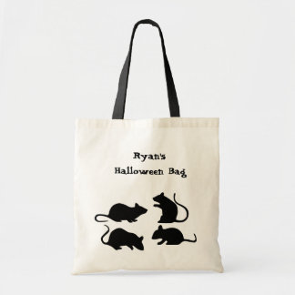 Rat Halloween Trick or Treat Tote Personalized Budget Tote Bag