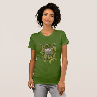 Rat looking out of leaves weeds woods t-shirt