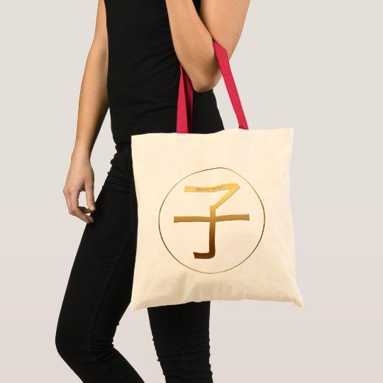 Rat Year Gold embossed effect Symbol Tote Bag