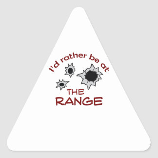 RATHER BE AT THE RANGE TRIANGLE STICKERS