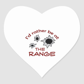 RATHER BE AT THE RANGE HEART STICKER
