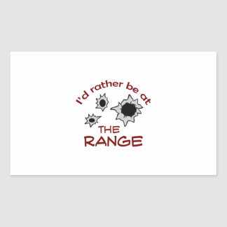 RATHER BE AT THE RANGE RECTANGLE STICKER