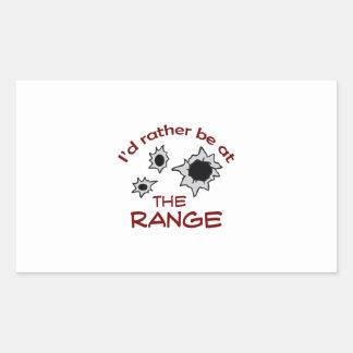 RATHER BE AT THE RANGE RECTANGULAR STICKER
