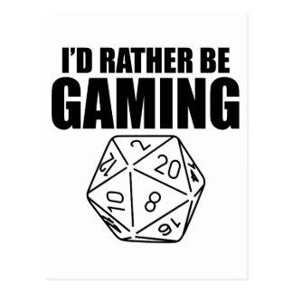 Rather Be Gaming (D20) Postcard