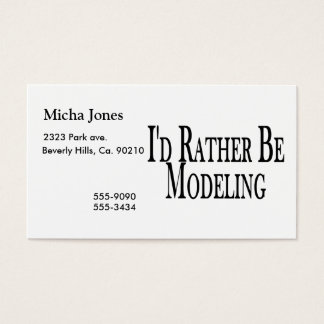 Rather Be Modeling Business Card