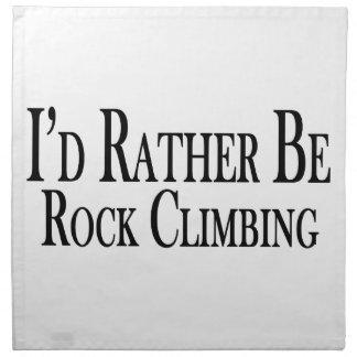 Rather Be Rock Climbing Napkin