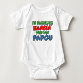 Rather Be With Papou Baby Bodysuit