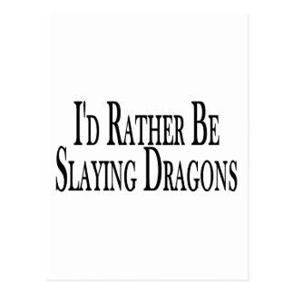 Rather Slay Dragons Postcard