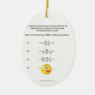 Rational Expression Christmas Ornament