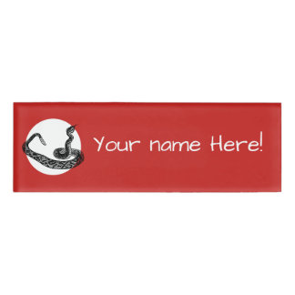 Rattle snake name tag