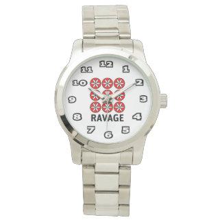 Ravage Women's Oversized Silver Bracelet Watch