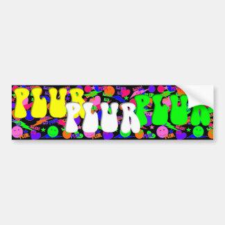 Rave Kandi Kid PLUR Smiley Bumper Stickers