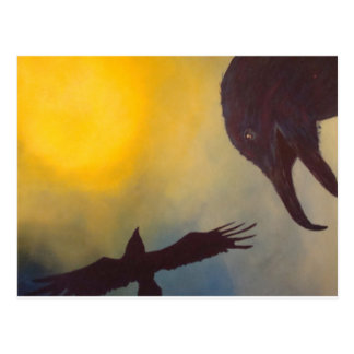 Raven and the Sun Postcard