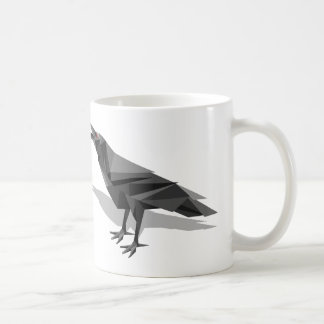 Raven Geometric Cubist Grey Triangles Coffee Mug