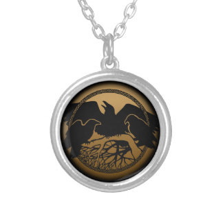Raven Necklace Native Art Raven Bird Jewelry