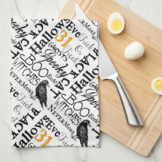 Raven Nevermore Kitchen Towel Halloween