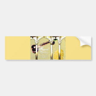 Ravi Shankar Tribute To Sitar -Arches, Music, Star Bumper Sticker
