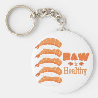 Raw Healthy Basic Round Button Key Ring