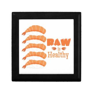 Raw Healthy Small Square Gift Box