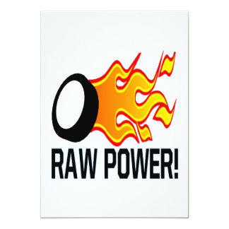 Raw Power 13 Cm X 18 Cm Invitation Card