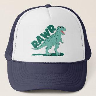 RAWR Green Spotted T-Rex Dinosaur Trucker Hat
