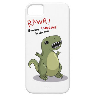 Rawr means I love you in dinosaur iPhone 5 Covers