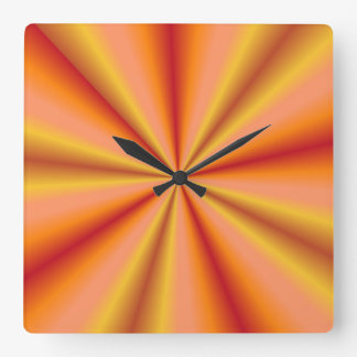 Rays of Gold and Orange Wallclock