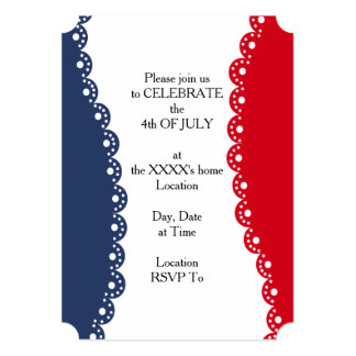 Razzle Dazzle July 4th Party Invitation