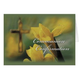 RCIA Communion and Confirmation Congratulations Card