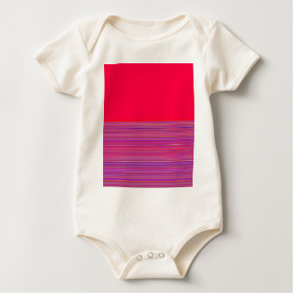 Re-Created Color Field & Stripes by Robert S. Lee Baby Bodysuit