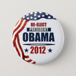 Re-Elect President Obama 2012 6 Cm Round Badge
