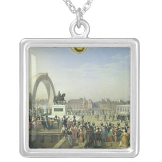 Re-establishment Statue of Henri IV on Pont Silver Plated Necklace