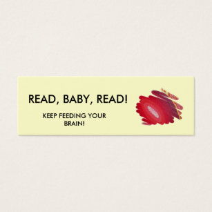 19 mini book business cards and mini book business card templates read baby read red art spirals mini book marker mini business card reheart Images