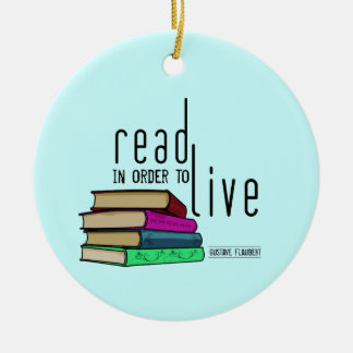 Read In Order To Live for book lovers Christmas Ornament