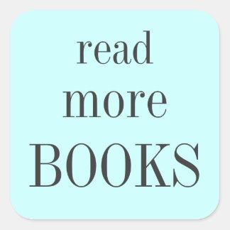 Read More Books Square Sticker