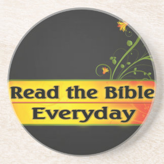 READ THE BIBLE EVERYDAY SANDSTONE COASTER