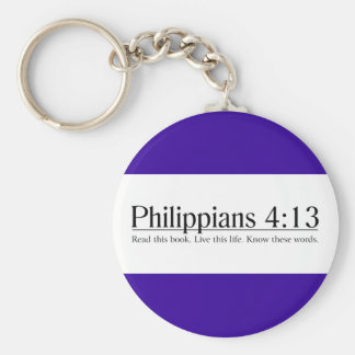 Read the Bible Philippians 4:13 Key Ring