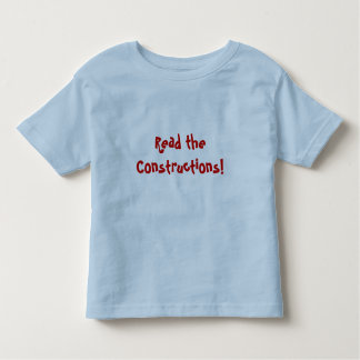 Read the Constructions Toddler T-Shirt