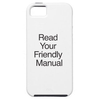 Read Your Friendly Manual iPhone 5 Cover