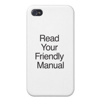 Read Your Friendly Manual iPhone 4 Case